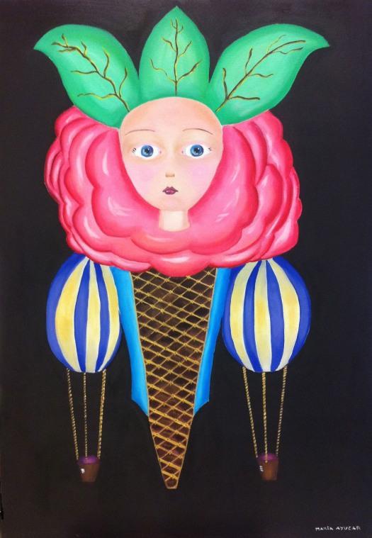 Retrato de una Flor - Oleo sobre lienzo 130cm x 90cm - Maria Ayucar